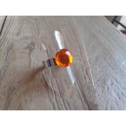Bague , verre fusing