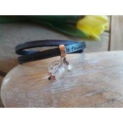 Bracelets cuir et fusing