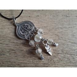 Sautoir , perles filées au chalumeau